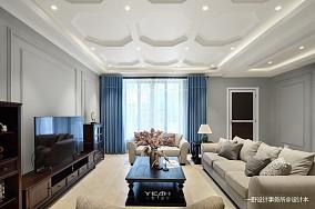 悠雅377平美式别墅客厅装修美图