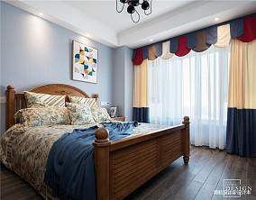 质朴85平美式三居儿童房效果图