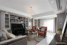 精致113平美式三居客厅装修案例
