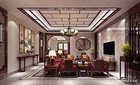 明亮360平中式别墅客厅装修设计图