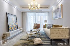 浪漫98平美式二居客厅装修图片