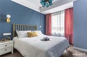 典雅71平美式二居卧室实景图