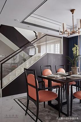 悠雅74平中式复式餐厅装修效果图