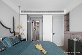 悠雅82平美式三居卧室设计图
