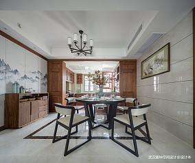 质朴84平中式三居餐厅装修美图