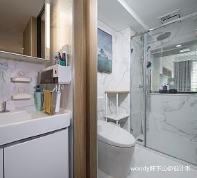 悠雅24平北欧小户型卫生间装修图片
