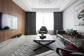130m² 现代客厅设计图