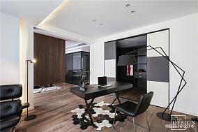 温馨121平现代三居书房设计效果图