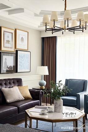 明亮63平美式复式客厅装修图