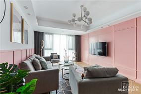 精美83平北欧三居客厅装修图片
