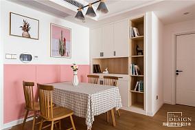 温馨71平北欧三居餐厅实景图片