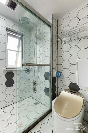 优美103平北欧三居卫生间装修设计图