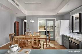 精美101平简约三居餐厅装修效果图