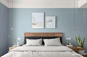 温馨88平简约三居卧室装饰图片
