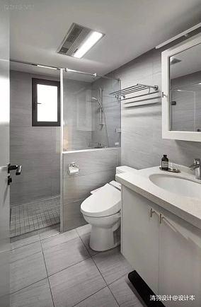 精致93平简约三居卫生间装修图