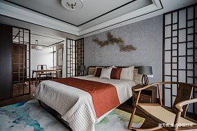 华丽718平中式别墅卧室布置图