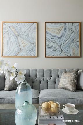 温馨128平简欧三居客厅设计美图