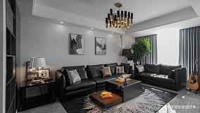 质朴66平简约复式客厅装修美图