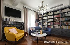 悠雅180平美式复式客厅案例图