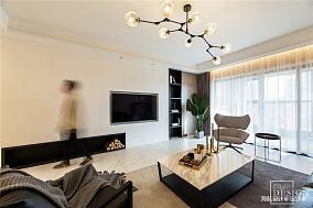 大气99平现代四居客厅装修图片