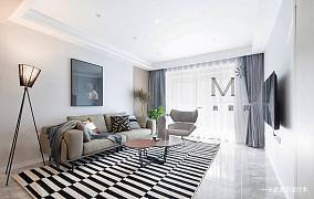 明亮105平现代二居装修装饰图