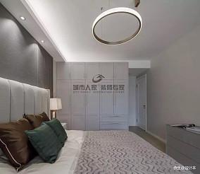 悠雅126平简约三居卧室案例图