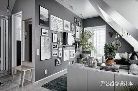 明亮28平现代小户型客厅装修装饰图