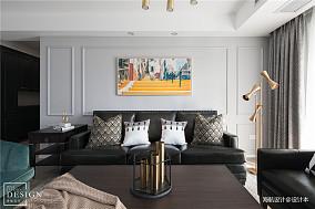 明亮101平美式四居客厅装修设计图