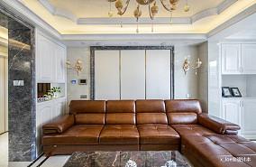 温馨109平欧式四居客厅装修效果图