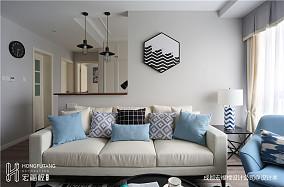 温馨81平北欧三居客厅设计案例