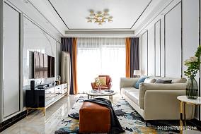 明亮103平现代三居客厅案例图