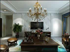 质朴83平美式三居客厅装修设计图