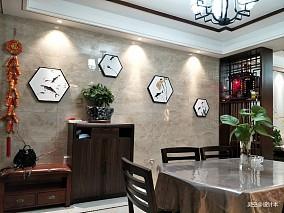 优美76平中式三居餐厅设计案例