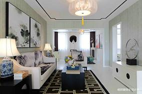悠雅160平中式复式客厅装修装饰图