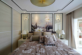 质朴41平中式复式卧室效果图