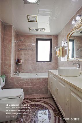 典雅128平欧式四居卫生间装修案例