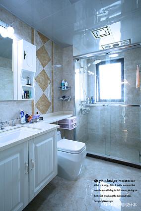 温馨115平欧式四居卫生间装饰图片