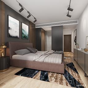 大气74平简约三居卧室设计美图