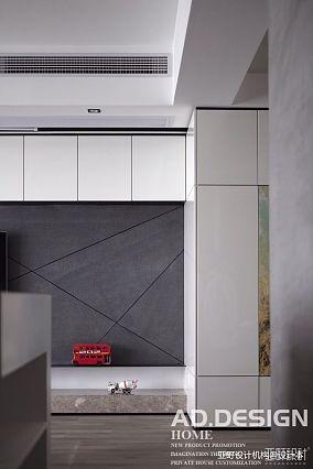 简洁122平现代三居客厅布置图