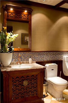 温馨318平欧式别墅卫生间装饰图片