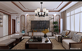典雅131平中式三居客厅实景图