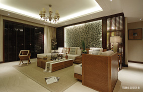 温馨127平东南亚三居客厅实拍图