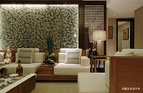 华丽75平东南亚三居客厅装修图