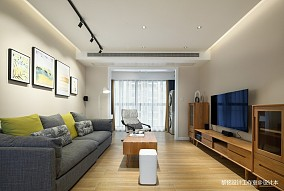 悠雅105平北欧三居客厅装修装饰图
