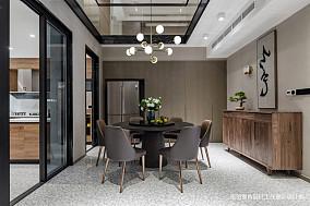 质朴117平中式三居餐厅装饰图