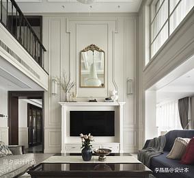 温馨270平美式别墅客厅装修设计图