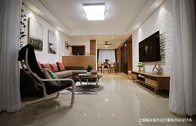 明亮130平简约三居客厅装饰图片