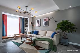 现代风二居客厅吊灯图片