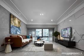 三居混搭风格客厅实景图