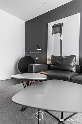 139㎡二居极简现代客厅设计